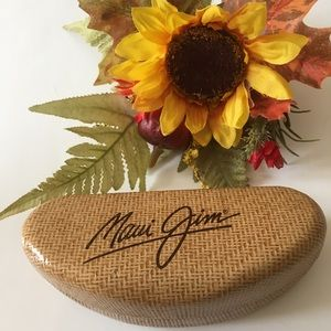 Maui Jim Leather Clamshell Sunglass  Case.